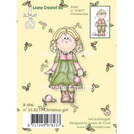Leane Creatief - Lea'bilities und By Lene Gennemsigtige frimærker, jul pige