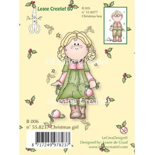 Leane Creatief - Lea'bilities und By Lene Transparante stempels, Kerst meisje