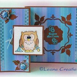 Leane Creatief - Lea'bilities und By Lene Gennemsigtige frimærker, lille ugle Tweetke