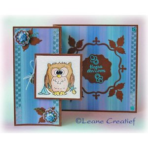 Leane Creatief - Lea'bilities und By Lene Transparent stamps, little owl Tweetke