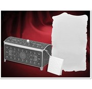BASTELSETS / CRAFT KITS Craft set for 3 treasure chest, silver-black, 140 x 60 x 70mm