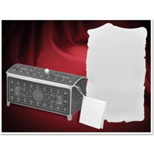 BASTELSETS / CRAFT KITS Bastelset für 3 Schatztruhe, silber-schwarz, 140 x 60 x 70mm