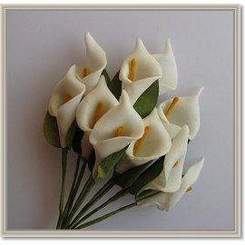 BLUMEN (MINI) UND ACCESOIRES Fleurs, calla 10 pièces