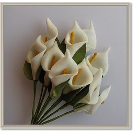 BLUMEN (MINI) UND ACCESOIRES Flowers, calla 10 pieces