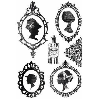 Stempel / Stamp: Transparent Transparent stamp, silhouette