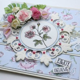 Joy!Crafts / Jeanine´s Art, Hobby Solutions Dies /  Timbro Trasparente, Vintage Rose