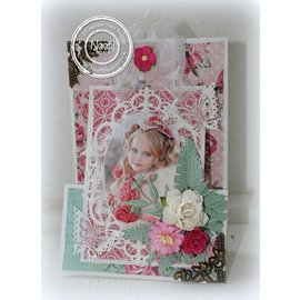 Joy!Crafts / Jeanine´s Art, Hobby Solutions Dies /  Stamping and Embossing stencil, frame oval flower