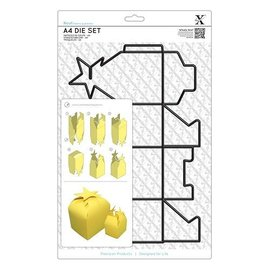 Docrafts / X-Cut A4 stansmessen (1 st) - Gift Box met Star Kragen