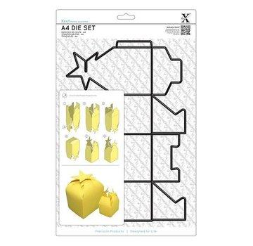 Docrafts / X-Cut A4 Stanzschablonen (1Stk) - Geschenkschachtel mit Sternverschluss