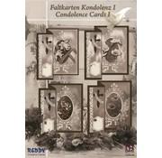 BASTELSETS / CRAFT KITS Folding kondolence til 4 kort + kuverter