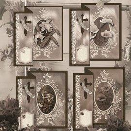 BASTELSETS / CRAFT KITS Folding condoleance voor 4 kaarten + enveloppen