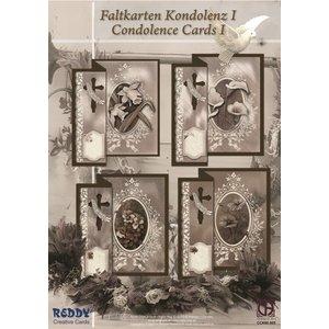 BASTELSETS / CRAFT KITS Folding condolence for 4 cards + envelopes