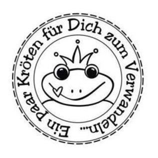 """Stempel / Stamp: Holz / Wood Butterer Stempel """"Kröten zum Verwandeln"""", 3cm ø"""