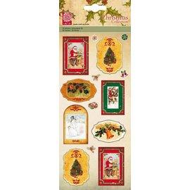 STICKER / AUTOCOLLANT 3D-klistermærker, nostalgiske julemotiver - DE SIDSTE klistermærker
