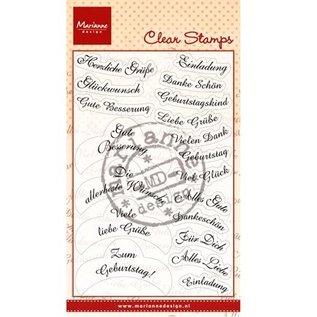 Marianne Design Clear Stamps, 14 wensen in het Duits