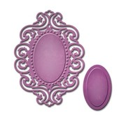 Spellbinders und Rayher Spellbinders, punching and embossing template, D-Lites, Reflection