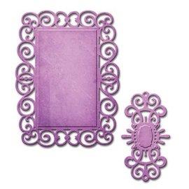 Spellbinders und Rayher Spellbinders, troquelado y estampado en relieve plantilla, D-Lites, marco decorativo
