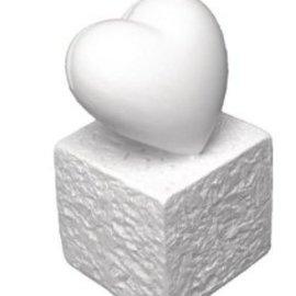 BASTELZUBEHÖR, WERKZEUG UND AUFBEWAHRUNG Titulaire Polyresin de la carte: Coeur, 5,5 cm