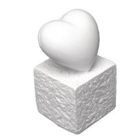 BASTELZUBEHÖR, WERKZEUG UND AUFBEWAHRUNG Titular de la tarjeta de Polyresin: Corazón, 5,5 cm