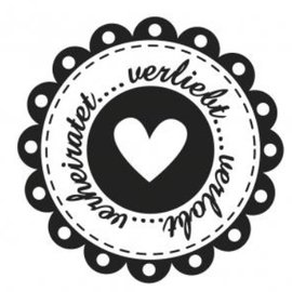 Stempel / Stamp: Holz / Wood Holzstempel, texte allemand, sujet: Mariage