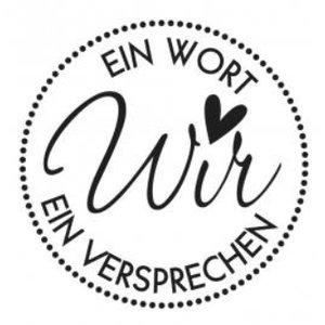Stempel / Stamp: Holz / Wood Holzstempel, German text, topic: Wedding