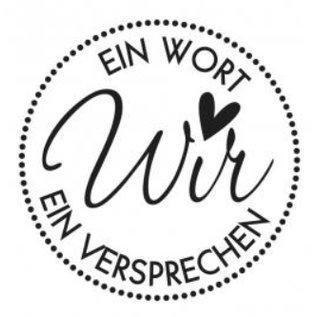 Stempel / Stamp: Holz / Wood Holzstempel, Duitse tekst, onderwerp: Wedding