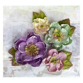Prima Marketing und Petaloo Tissus fleurs par Prima Marketing, 4 pièces, victorienne