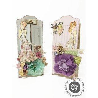 Prima Marketing und Petaloo Stoffen bloemen door Prima Marketing, 4 stuks, Victoriaanse