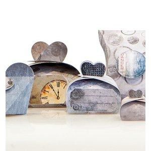 """Dekoration Schachtel Gestalten / Boxe ... Craft set voor 14 pakketten """"Industrial"""" + Labels"""