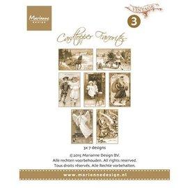 Bilder, 3D Bilder und ausgestanzte Teile usw... 21 Card Toppers - Foretrukne Vintage