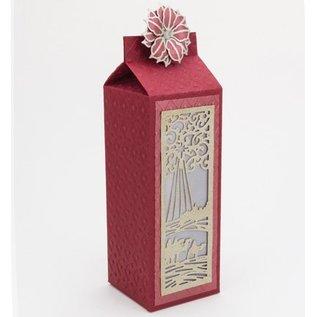 CREATIVE EXPRESSIONS und COUTURE CREATIONS Ponsen en embossing stencil De feestelijke Collection - Wijzen Mini Striplet