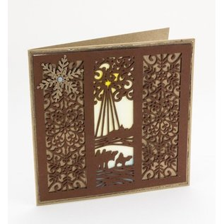 CREATIVE EXPRESSIONS und COUTURE CREATIONS Punching and embossing stencil The Festive Collection - Wise Men Mini Striplet