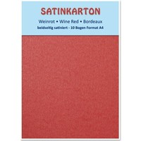 Satin cardboard A4, double-sided satin 250gr with embossing. / Sqm, Maroon