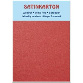 Karten und Scrapbooking Papier, Papier blöcke Cartone raso A4, a doppia faccia 250gr raso con goffratura. / Mq, Maroon