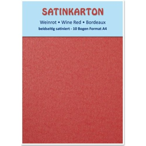 Karten und Scrapbooking Papier, Papier blöcke Satin cardboard A4, double-sided satin 250gr with embossing. / Sqm, Maroon