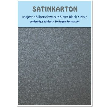 """Karten und Scrapbooking Papier, Papier blöcke Satin pap A4, dobbeltsidet satin 250gr med prægning. / Kvadratmeter """"Majestic"""" silver sort"""