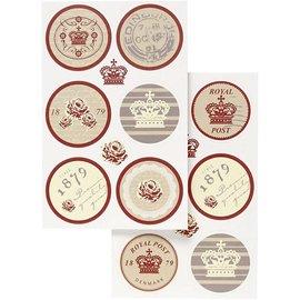 Embellishments / Verzierungen Zelf motief stickers met een mat oppervlak