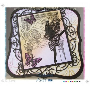 Tattered Lace Stempelen en ponsen template, flarden Kant, Graceful Fairy
