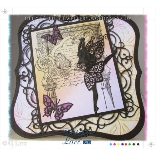 Tattered Lace Stamping and punching template, Tattered Lace, Graceful Fairy