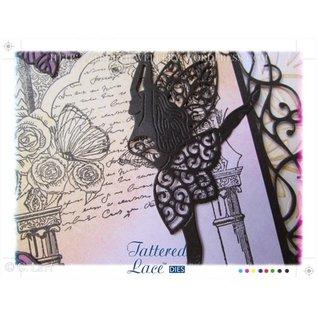 Tattered Lace Stempelen en ponsen template, flarden Kant, Graceful Fairy