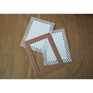 Spellbinders und Rayher Ponsen jig, Nestabilities, decoratieve frame en label