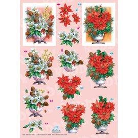 Bilder, 3D Bilder und ausgestanzte Teile usw... A4 Dufex-cut sheets: Christmas Bouquets