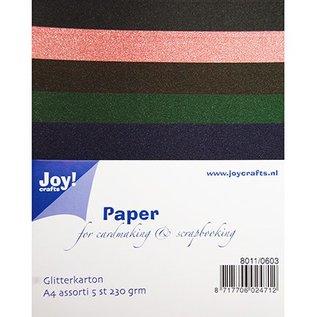Karten und Scrapbooking Papier, Papier blöcke A4 Glitter cardboard