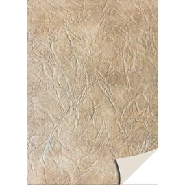 Karten und Scrapbooking Papier, Papier blöcke 5 fogli cartoncini in pelle, marrone chiaro