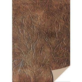 Karten und Scrapbooking Papier, Papier blöcke 5 hojas de papel de tarjetas de cuero, marrón oscuro