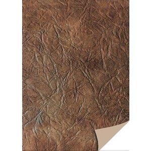 Karten und Scrapbooking Papier, Papier blöcke 5 vellen karton leer, donkerbruin