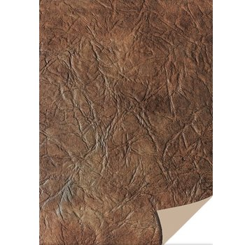 Karten und Scrapbooking Papier, Papier blöcke 5 ark karton læder, mørk brun