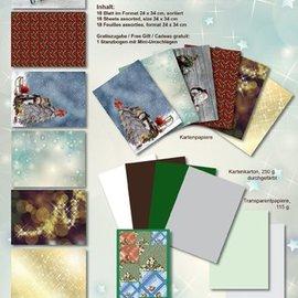 Karten und Scrapbooking Papier, Papier blöcke Cartoncino Set di Natale