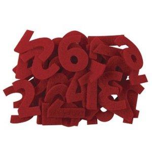 Embellishments / Verzierungen Nummers 1 tot 24 in gevoeld rood