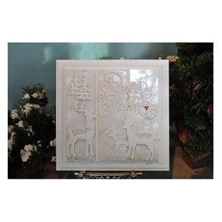 CREATIVE EXPRESSIONS und COUTURE CREATIONS Punching and embossing template, reindeer family